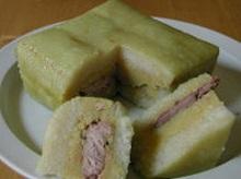 Bánh chưng xanh thịt heo rừng